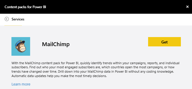 MailChimp imagen de inicio