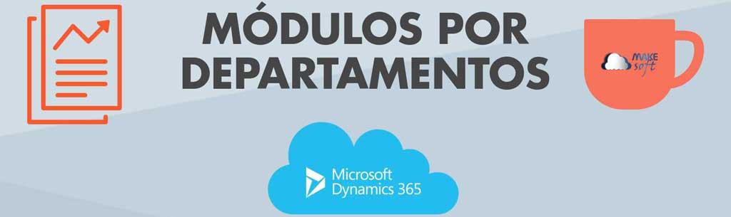 Dynamics 365: Módulos por departamento